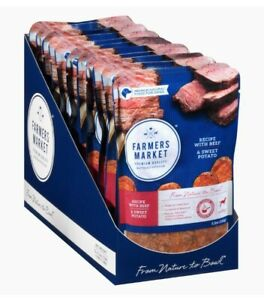 12 pack new beef & sweet potato Farmers Market Natural Wet DogFood Pouch 5.3 oz