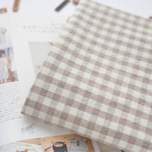 """Cotton fabric by the yard Yarn dyed fabric Check Fabric 63"""" Wide SG Washed Beige"""