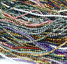 "Wholesale Natural Gemstones 3.5mm ~ 4mm ~4.5mm Round Beads 15"" ~ 16"" Pick Stone"