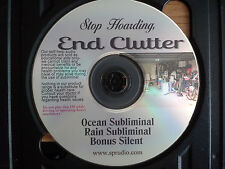 Stop Hoarding Become Organized, DeClutter your Mind and Life Subliminal CD
