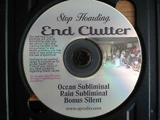 Stop Hoarding Become Organized, DeClutter your Life Subliminal Ocean/Rain CD