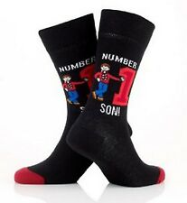 MENS NUMBER ONE SON BLACK SOCKS UK SIZE 6-11 / EUR 39-46/ USA 7-12