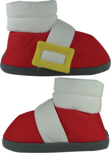 **Legit** Sonic the Hedgehog Authentic Sonic Cosplay Plush Slipper Shoes #74771