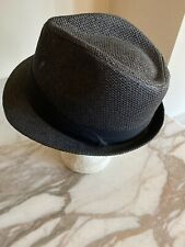 The Hatter Company Gray Fedora Straw Hat Cap Style 5143