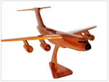 C-5 Galaxy Cargo Aircraft Handcrafted Natural Mahogany Premium Wood Desk Model