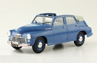Scale car 1:24, GAZ-M20 Pobeda Convertible blue