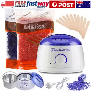 Wax Pot + 300g Wax Bean+Sticks Warmer Kit Hair Removal Heater Depilatory Machine