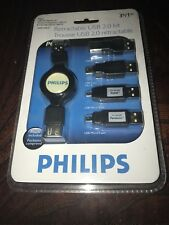 PHILIPS RETRACTABLE USB 2.0 KIT 3 FT / 1 M NEW