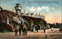 San Francisco California USA vintage postcard 1912 Parapet at Sutro Heights