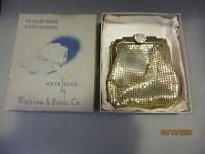 New listing Vintage Whiting & Davis Gold Mesh Purse Hand Bag with Rhinestones