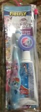 """FIREFLY """"My Little Pony"""" Toothbrush Set Cap & Tooth Paste in Reusable Bag New"""