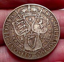 Queen Victoria 1900 Jubilee Head Silver Florin High Grade