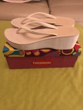 Havaianas High look wedge flip flops - Size 39 - White - Havaianas High Fashion