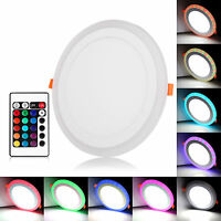RGB LED Ceiling Recessed Panel Light Down Spot Light Lamp Warm/Day White +Driver