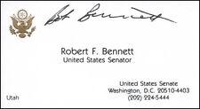 ROBERT F. BENNETT (UTAH) - BUSINESS CARD SIGNED