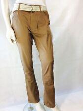 Straight Leg Cotton Cargos High Trousers for Women