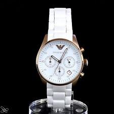 EMPORIO ARMANI reloj de Mujer Cronógrafo AR5920 Sportivo color blanco y Oro Rojo