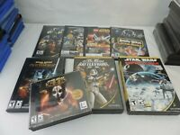 Star Wars PC Games Lot of 8 Battlefront KNIGHTS OLD REPUBLIC EMPIRE LEGO ANGRY
