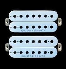 Guitar Parts GUITARHEADS PICKUPS HEXBUCKER HUMBUCKER - 7 STRING - SET 2 - WHITE