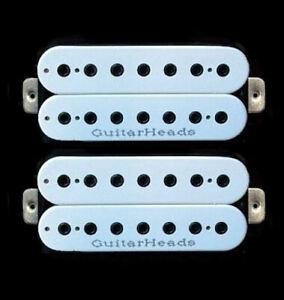 Guitar Pickups - GUITARHEADS HEXBUCKER HUMBUCKER - 7 STRING - SET 2 - WHITE