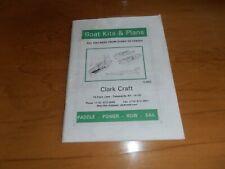 CLARK CRAFT BOAT PLAN & KIT CATALOG