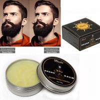 Beard Balm Wax Mustache HairGrowth Conditioner Care Softener Cream Moisturizing#