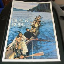 VTG 1 sheet 27x41 Movie Poster Black Robe 1991 Lothaire Bluteau