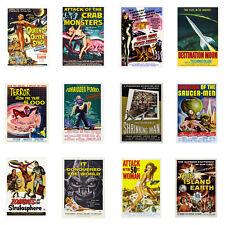 1950s Vintage Science Fiction Movie Posters Atomic Robots Space Age Retro SciFi