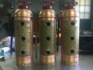 BIRD HOUSE MADE FROM COPPER FIRE EXTINGUISHER 3 FAMILY ( LAST ONE )