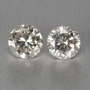 0.12Ct Excellent Round Shape 100% Certified Natural White Loose Diamond Pair