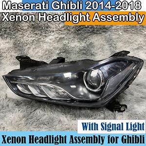 2014 2015 2016 2017 2018 Maserati Ghibli Xenon Headlight Assembly Right Used