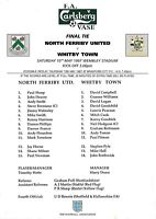 Teamsheet - North Ferriby United v Whitby Town 1996/7 FA Vase Final