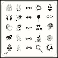MoYou Nail Fashion Stamping Nail Art Image Plate 408 Trendy Style Glasses