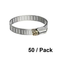 "1 13/16"" to 2 3/4"" Od Worm Gear Stainless Steel Pipe Fitting Hose Clamp 50/Pk"
