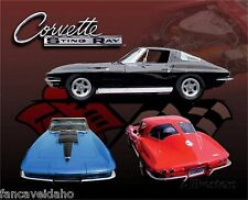 "Chevy Corvette Stingray Collectible Metal 12"" x 15"" Decorative Tin Sign"
