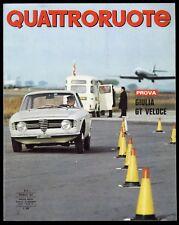 QUATTRORUOTE N° 134 - FEBBRAIO 1967 - FIAT DINO FIAT 125 ALFA ROMEO GIULIA