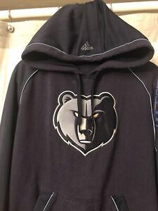 ADIDAS NBA Memphis Grizzlies Hoodie Hooded Sweatshirt Men's Medium.