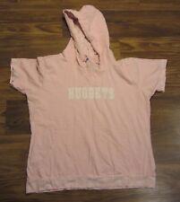 NBA Denver Nuggets Women's Short-Sleeve Hooded Shirt, Logo, Pink, Size XL
