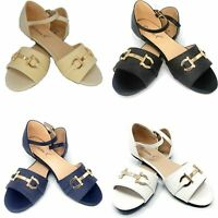 Women's Open Toe Ballet MJ Flats, Casual Classic Shoes * Black Beige Navy White