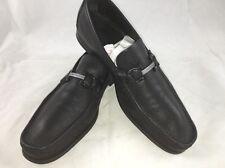 "Salvatore Ferragamo 'Regal"" Pebbled Leather Size  10 1/2 EE Black Retail $540"