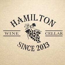 Coffret vin cave Stencil Hamilton réutilisable modèle pour Artisanat Toile À faire soi-même Decor