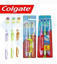 3 Pack Colgate Extra Clean Toothbrush Medium Bristles Soft Grip Tooth Brush