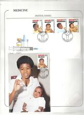 cover topical  Bophuthatswana polio,measles,diphtheria, W.C. FDC  medicine