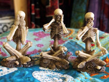 SEE NO HEAR NO SPEAK NO EVIL SKELETONS FIGURES Ornaments FIGURINES GOTHIC HORROR