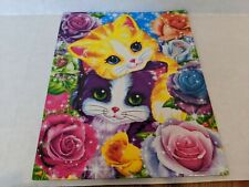 2014 Lisa Frank Playtime Kittens Glitter 2 Pocket Folder Roses Flowers