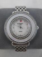 New Michele Cloette Diamond Mother of Pearl Ladies Watch MWW20E000001 Box NIB
