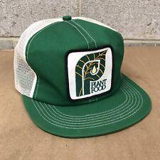 VINTAGE K-PRODUCT PLANT FOOD COMPANY SNAPBACK GREEN TRUCKER HAT CAP 80s