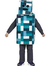 PIXEL ROBOT MONSTER BLUE Adult Costume Halloween Party Joke Dress Up