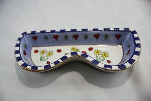 Eyeglasses Sunglasses Holder Flowers And Ladybugs Ceramic