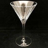 Williams Sonoma Dorset Crystal Martini Cocktail Glass Vertical Cuts 7 3/4